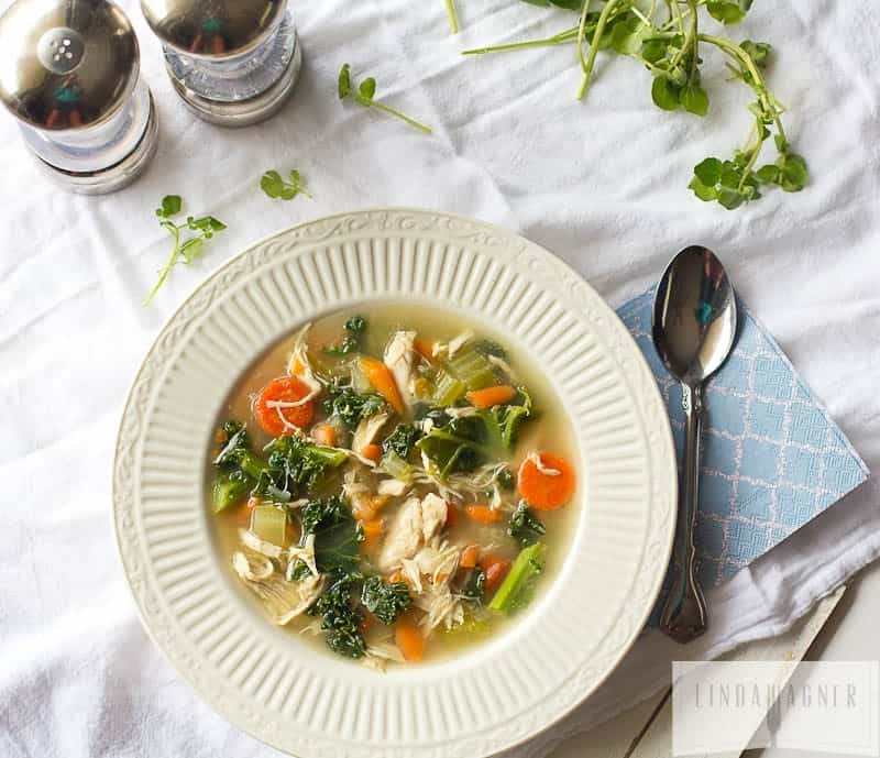 Easy Chicken and Kale Soup Vegetable Soup