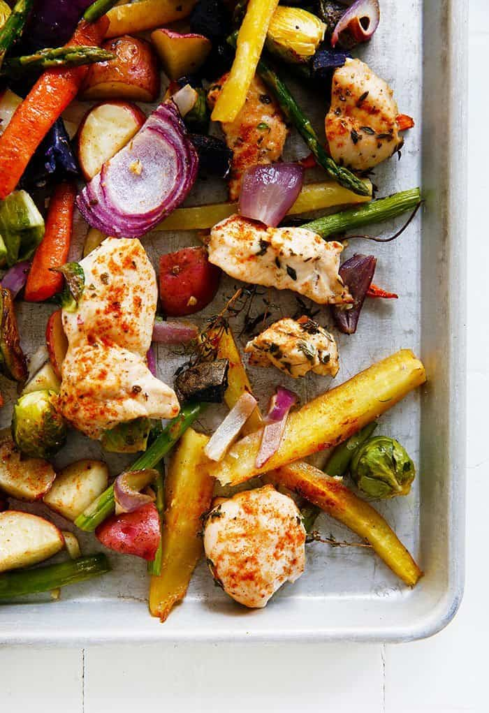 Sheet Pan Chicken and Veggie Dinner