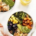 Chicken & Spicy Broccoli Buddha Bowl with Spicy Mango Sauce