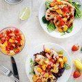 Grilled Mango Chicken with Strawberry Mango Salsa