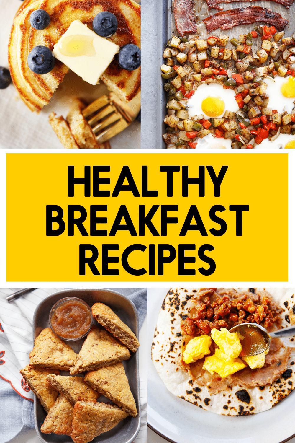 Healthy breakfast recipes.