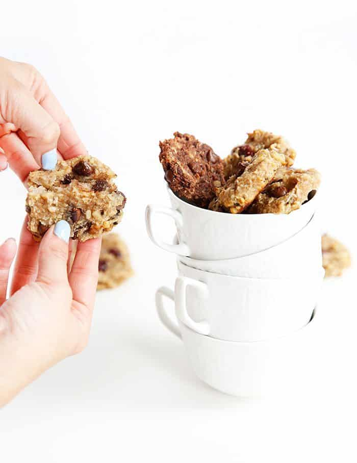 Paleo Breakfast Cookies Cut In Half
