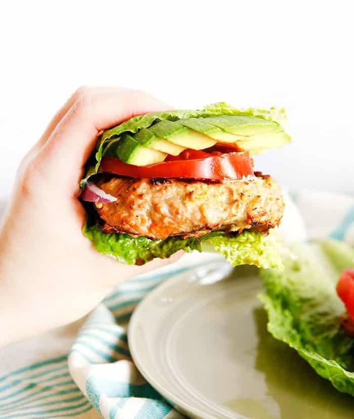 Moroccan Ground Chicken Burger