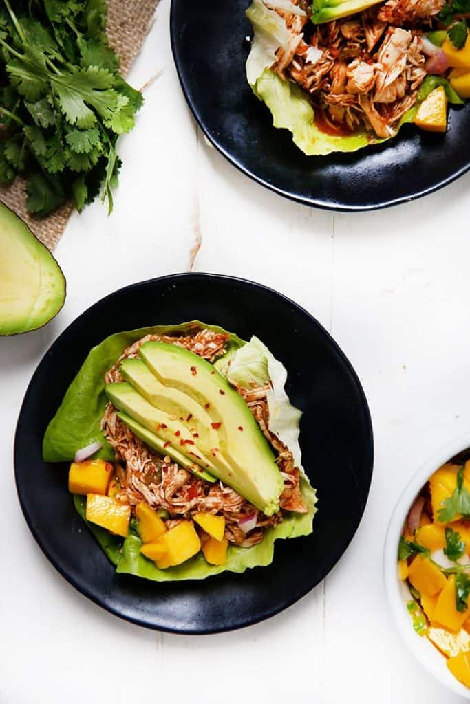 Caribbean Pulled Chicken Lettuce Wraps [VIDEO]