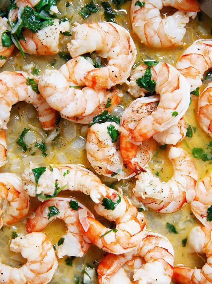 Skillet tequila lime shrimp
