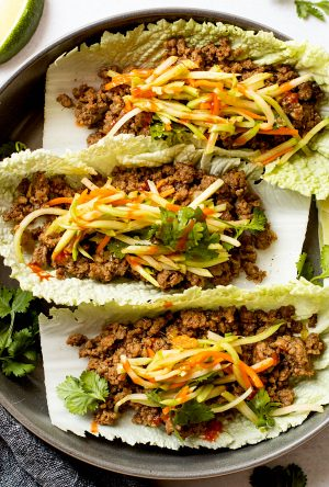 Asian Beef Cabbage Wraps