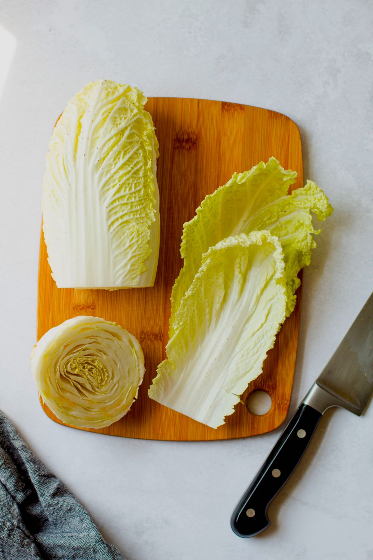 Napa cabbage for beef cabbage wraps.