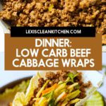 Beef cabbage wraps.