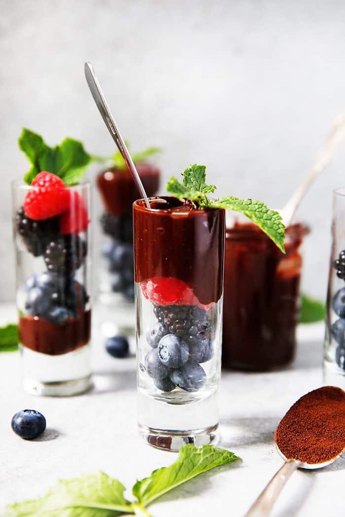 Mocha Fudge Fruit Parfaits