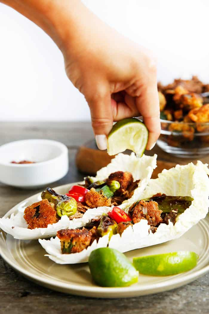 Vietnamese Beef Cabbage Wraps