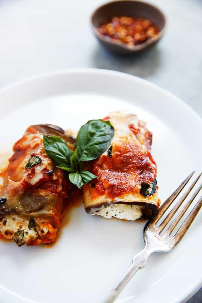 Eggplant Lasagna Rollatini