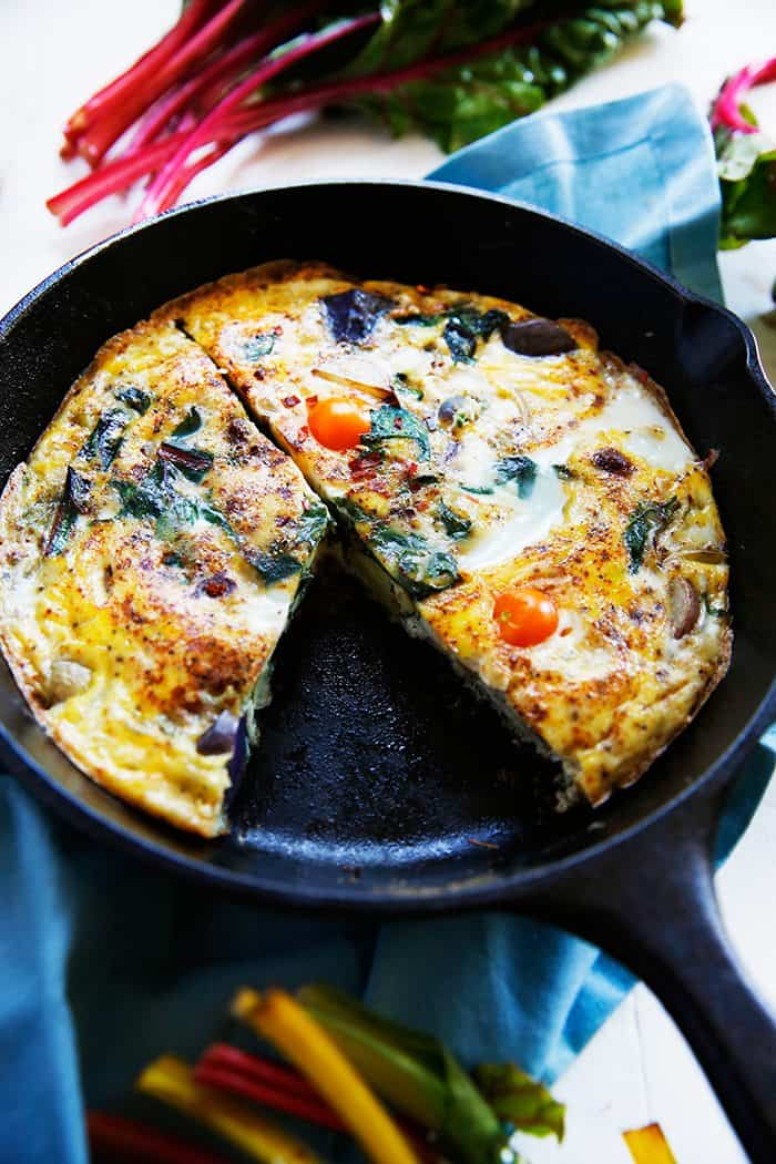 Potato, Leek, and Chard Frittata