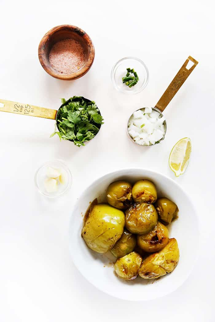 ingredients for Roasted Tomatillo Salsa recipe