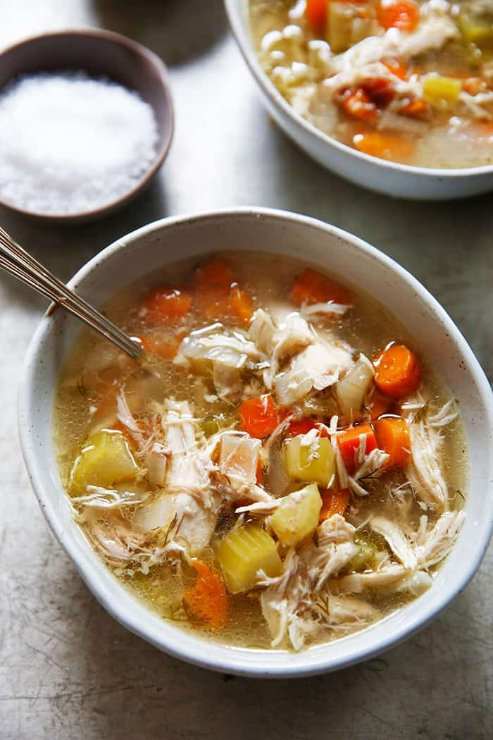 Classic Slow cooker chicken soup