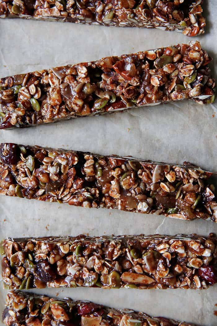 Trail Mix Granola Bars (video)