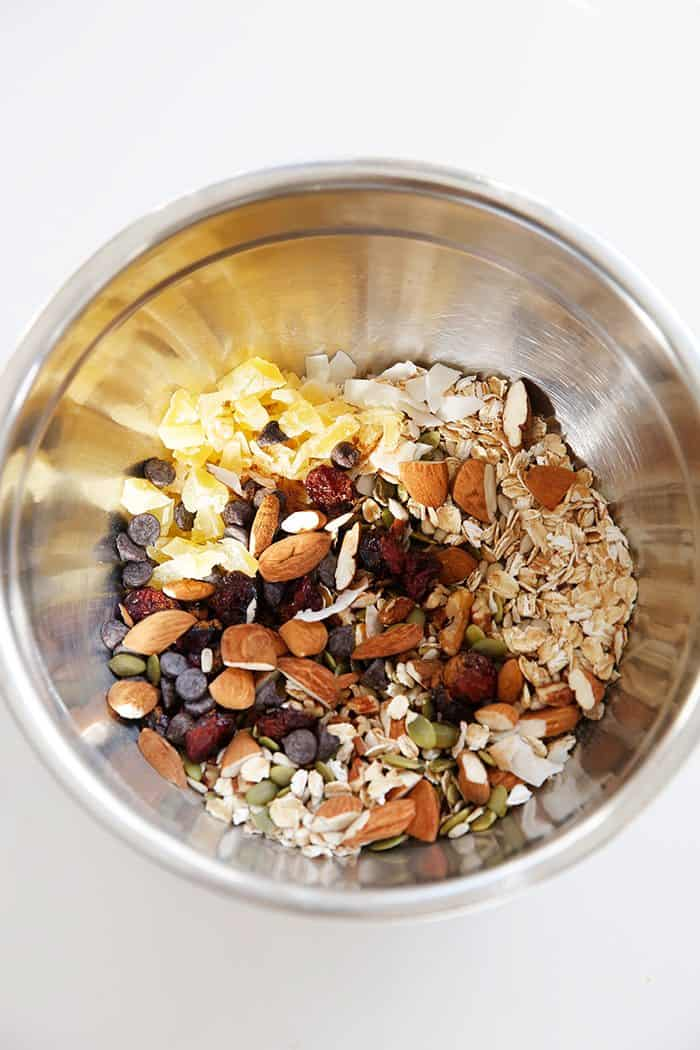 Chewy granola bar recipe ingredients