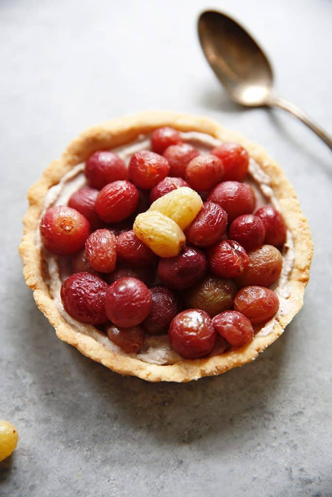 Roasted Grape Tart
