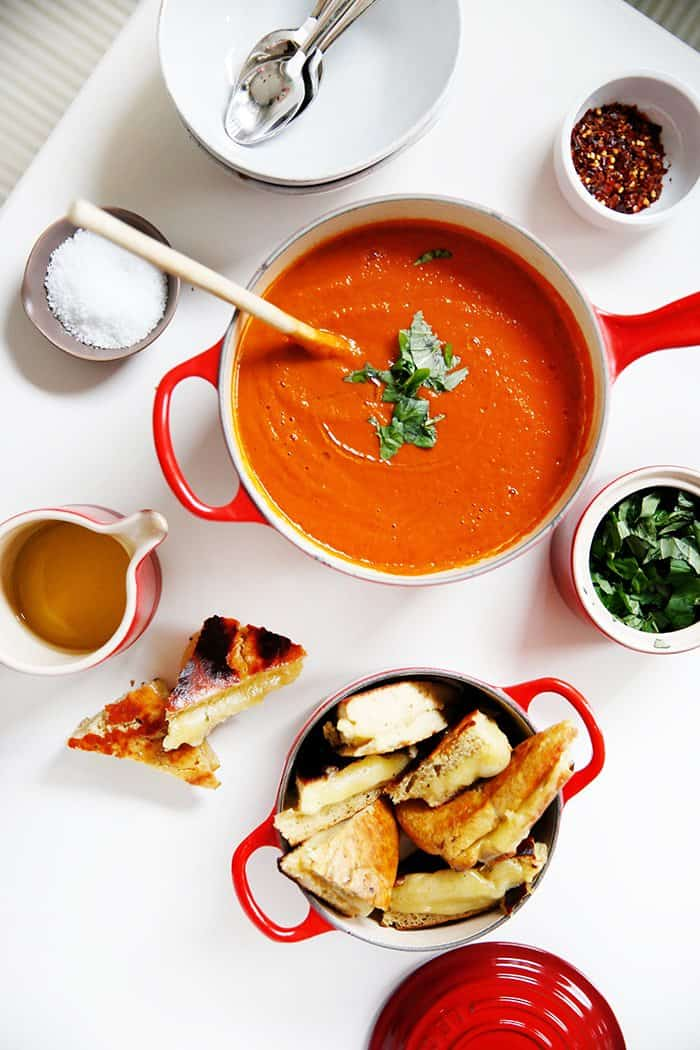 Tomato Basil Soup With Grilled Cheese Lexi S Clean Kitchen