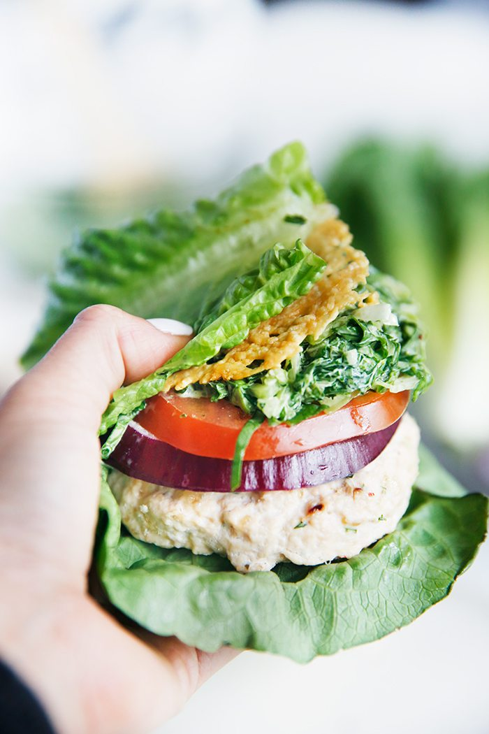 Chicken Caesar Salad Burgers