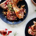 Lamb Chops with Crispy Shallots and Pomegranate Sauce