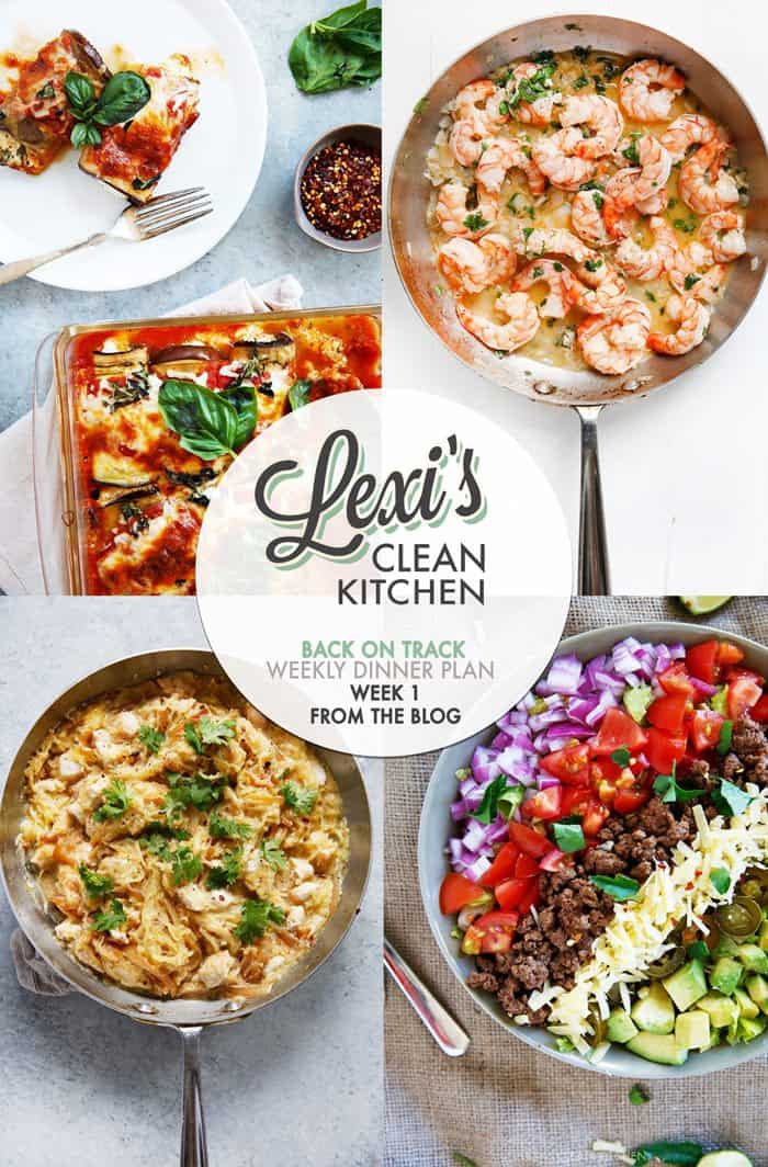 Lexi's Weekly Dinner Plan 2017 (Week 1)