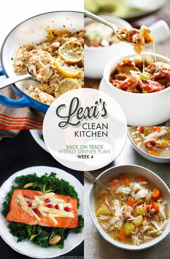 2016 Weekly Meal Plan Week 4