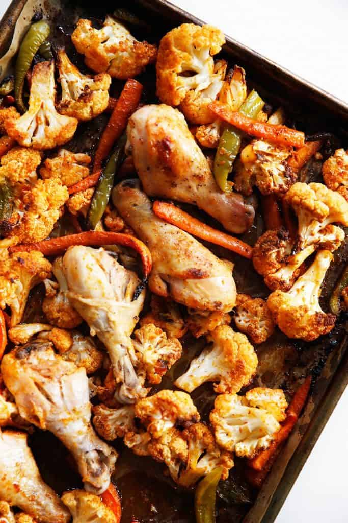 Sheet Pan Buffalo Chicken and Veggies