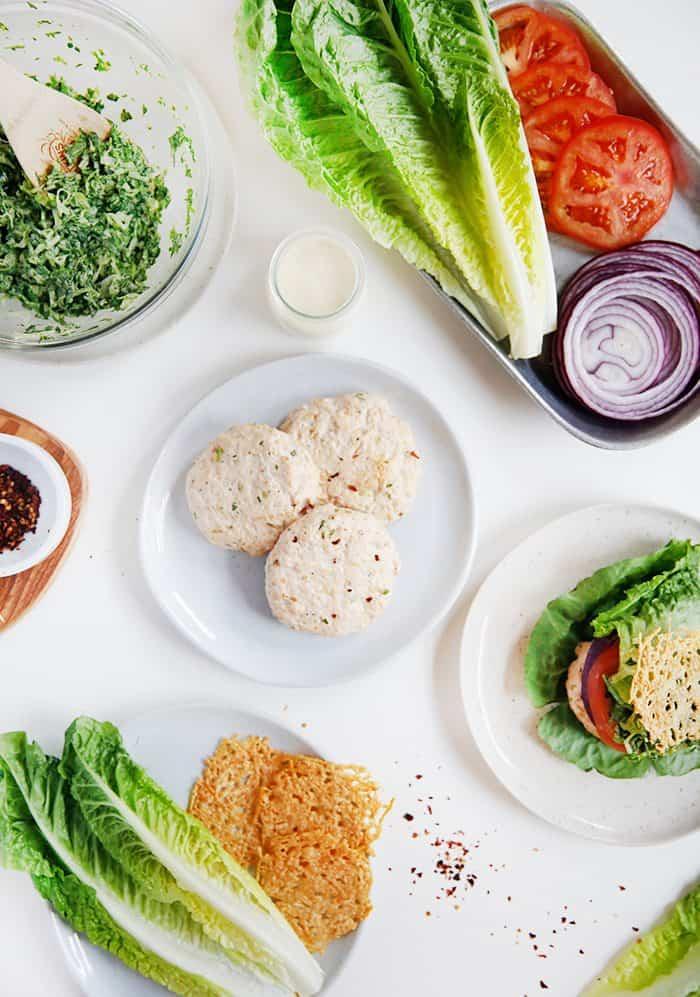 Chicken Caesar Salad Burgers