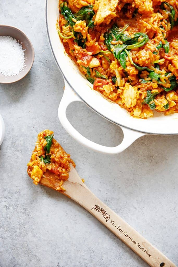 One-Pan Indian Spiced Chicken and Cauliflower