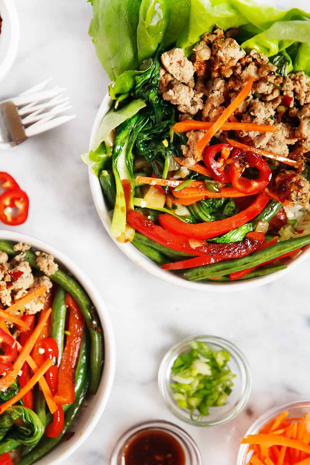 Thai Basil Ground Turkey Bowl Meal Prep