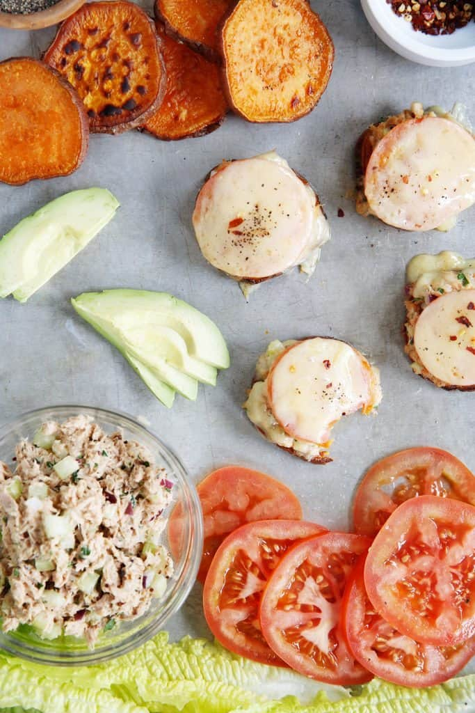 Sweet Potato Tuna Melts