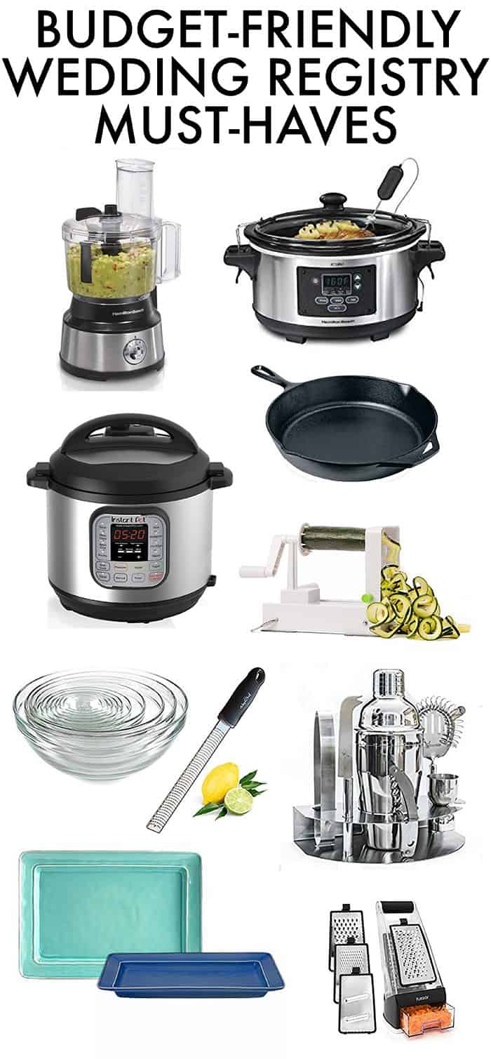 Wedding Registry Must Haves Budget Friendly
