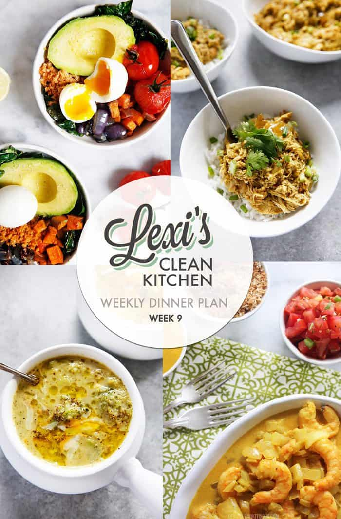 Lexi's Weekly Dinner Plan Week 9