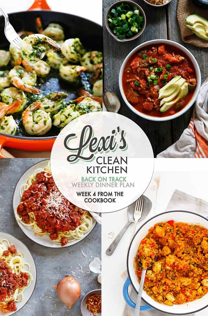WEEKLY MEAL PLAN WEEK 4