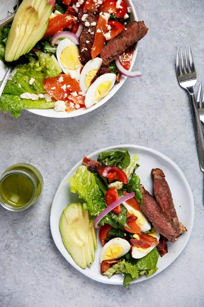 Steak Cobb Salad with Cilantro Vinaigrette