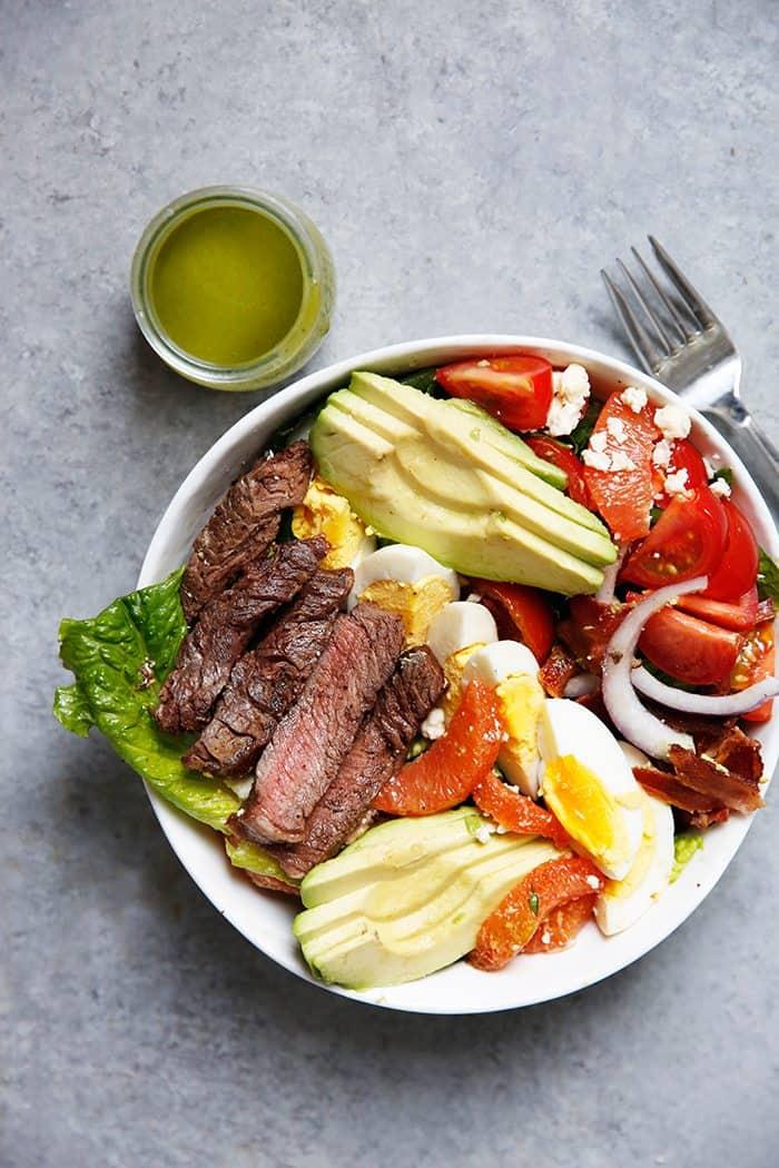 Steak Cobb Salad with Cilantro Vinaigrette