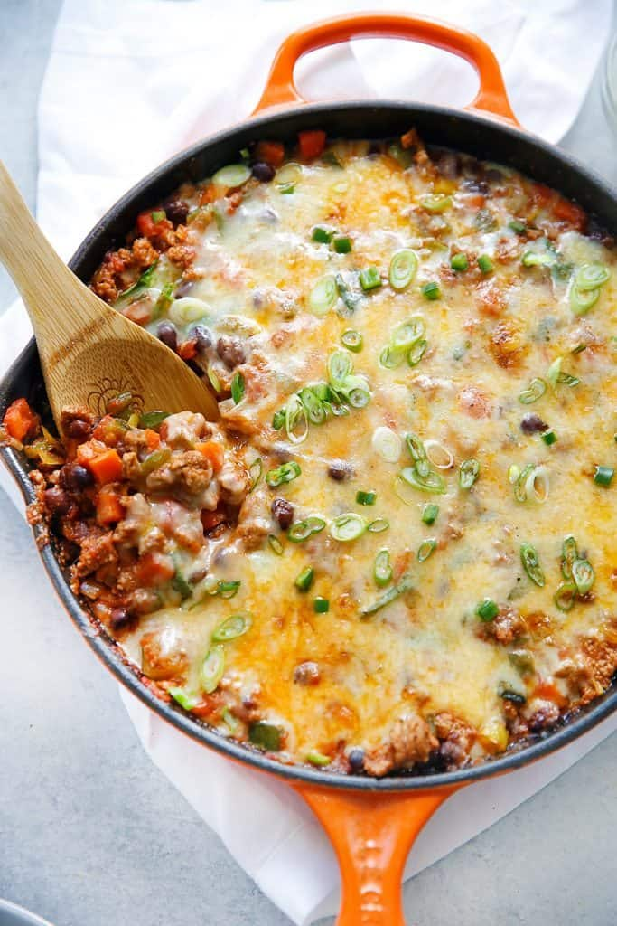 30 Minute Loaded Taco Skillet Video Lexi S Clean Kitchen