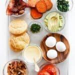 Gluten-Free Eggs Benedict Breakfast Bar