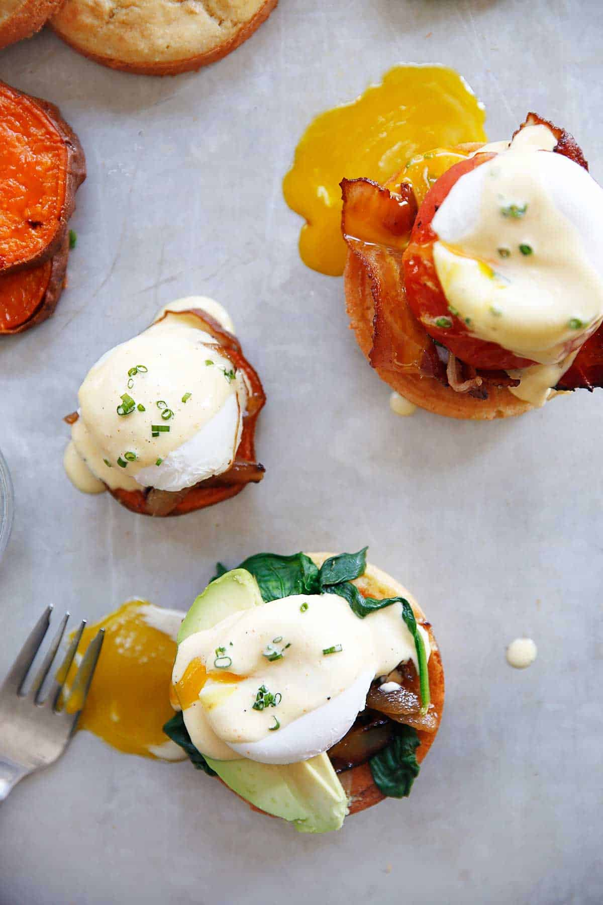 Gluten-Free Eggs Benedict Breakfast Bar
