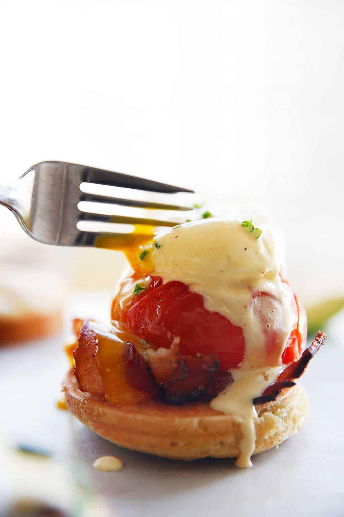 Paleo Eggs Benedict Breakfast Bar