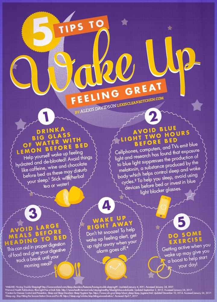 5 Tips To Wake Up Feeling Great - Lexi's Clean Kitchen