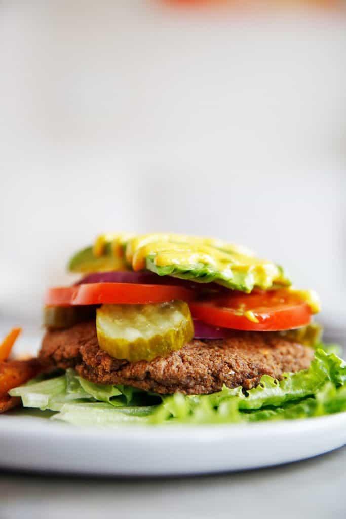 Meatless Mushroom Burgers