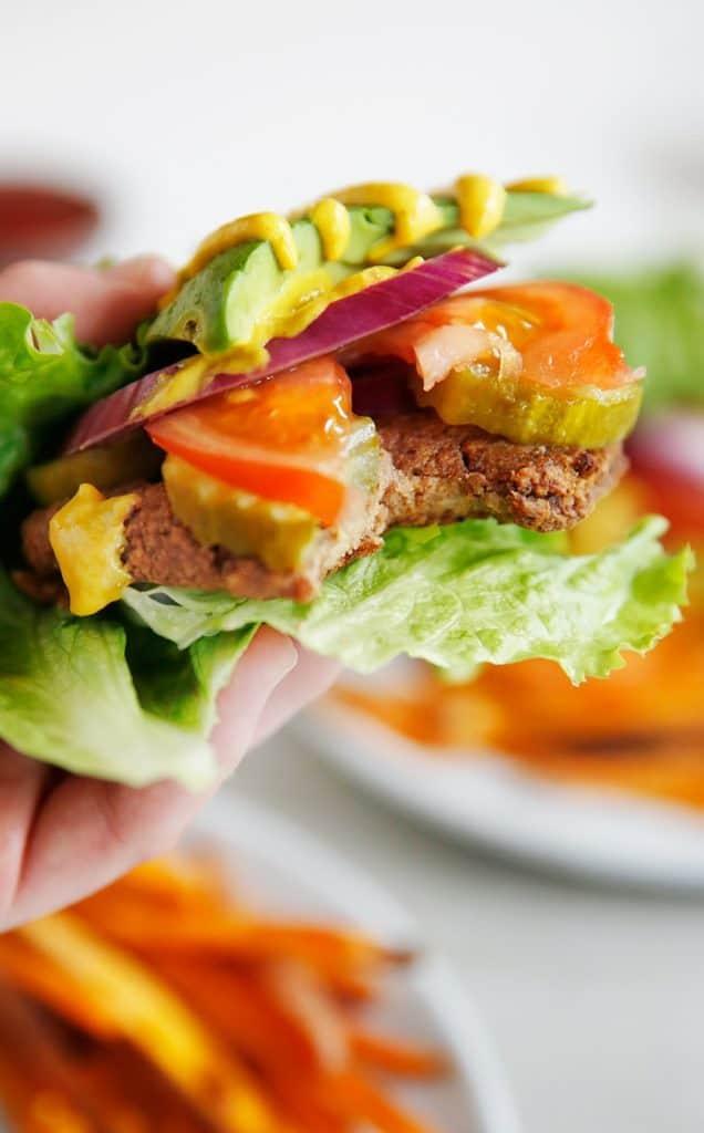 Paleo Mushroom Veggie Burger