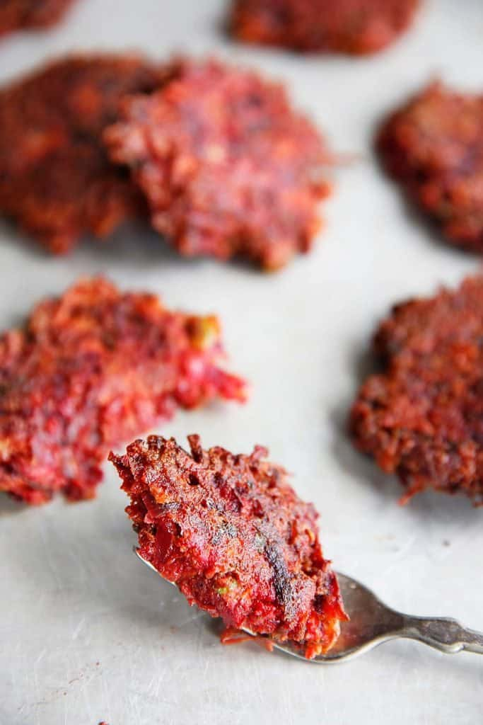 Veggie Fritters with beets