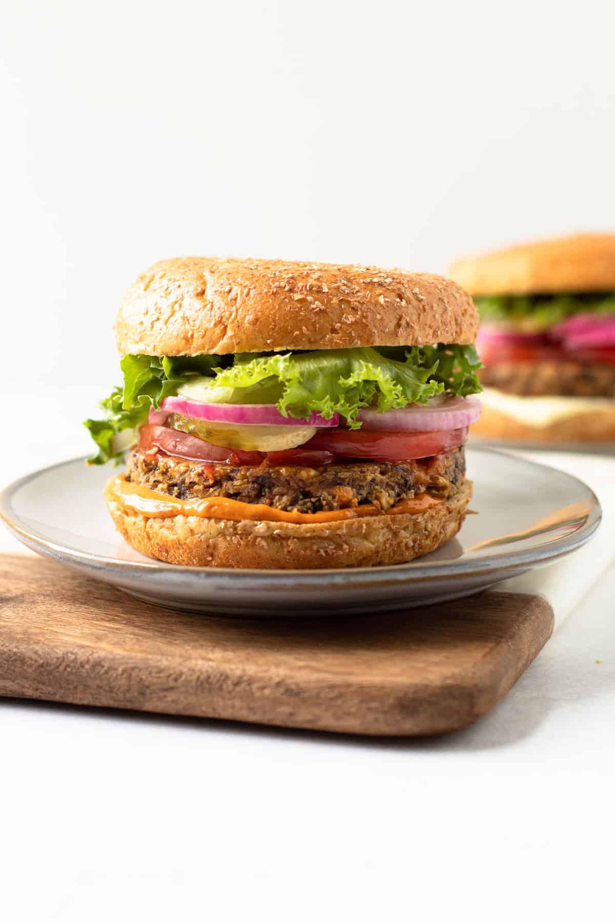 Paleo mushroom burger.