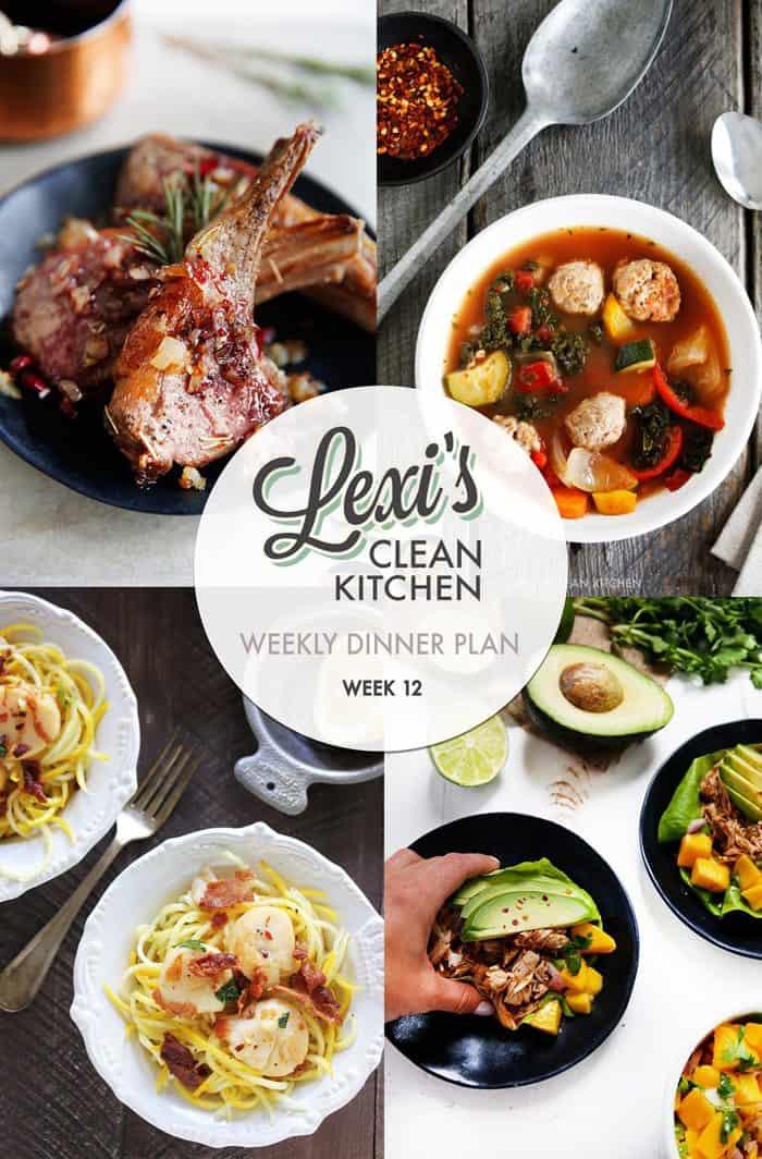 Weekly Meal Plan Graphic Week 12