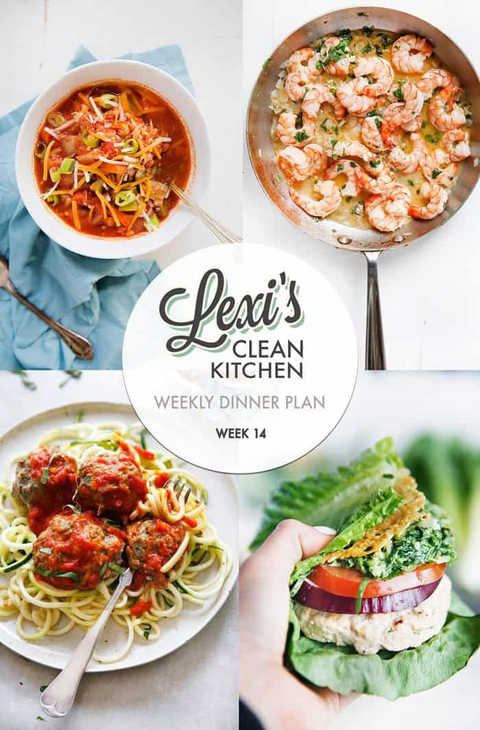 Lexi's Weekly Dinner Plan Week 14