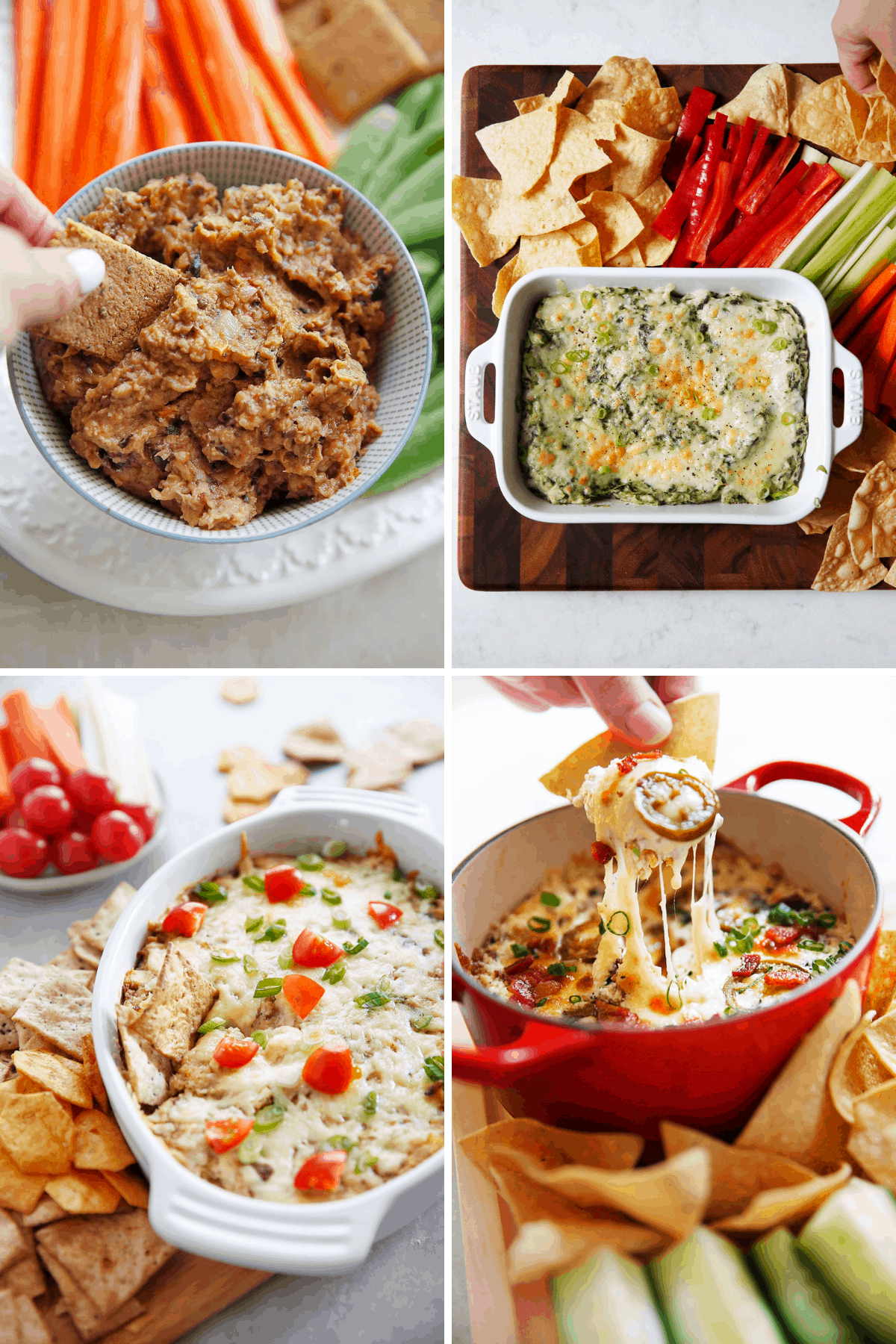 Healthy snack recipes to dip.