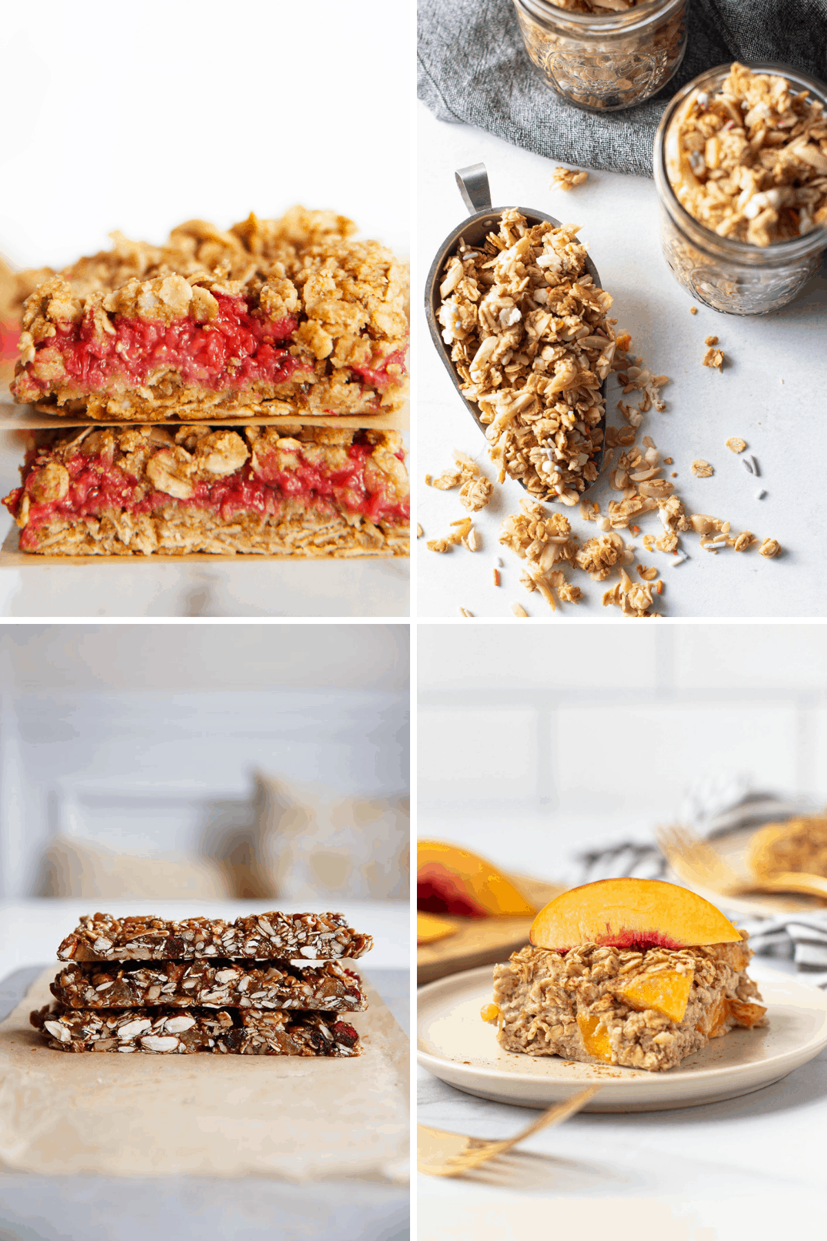 Healthy snack recipes made from oats.