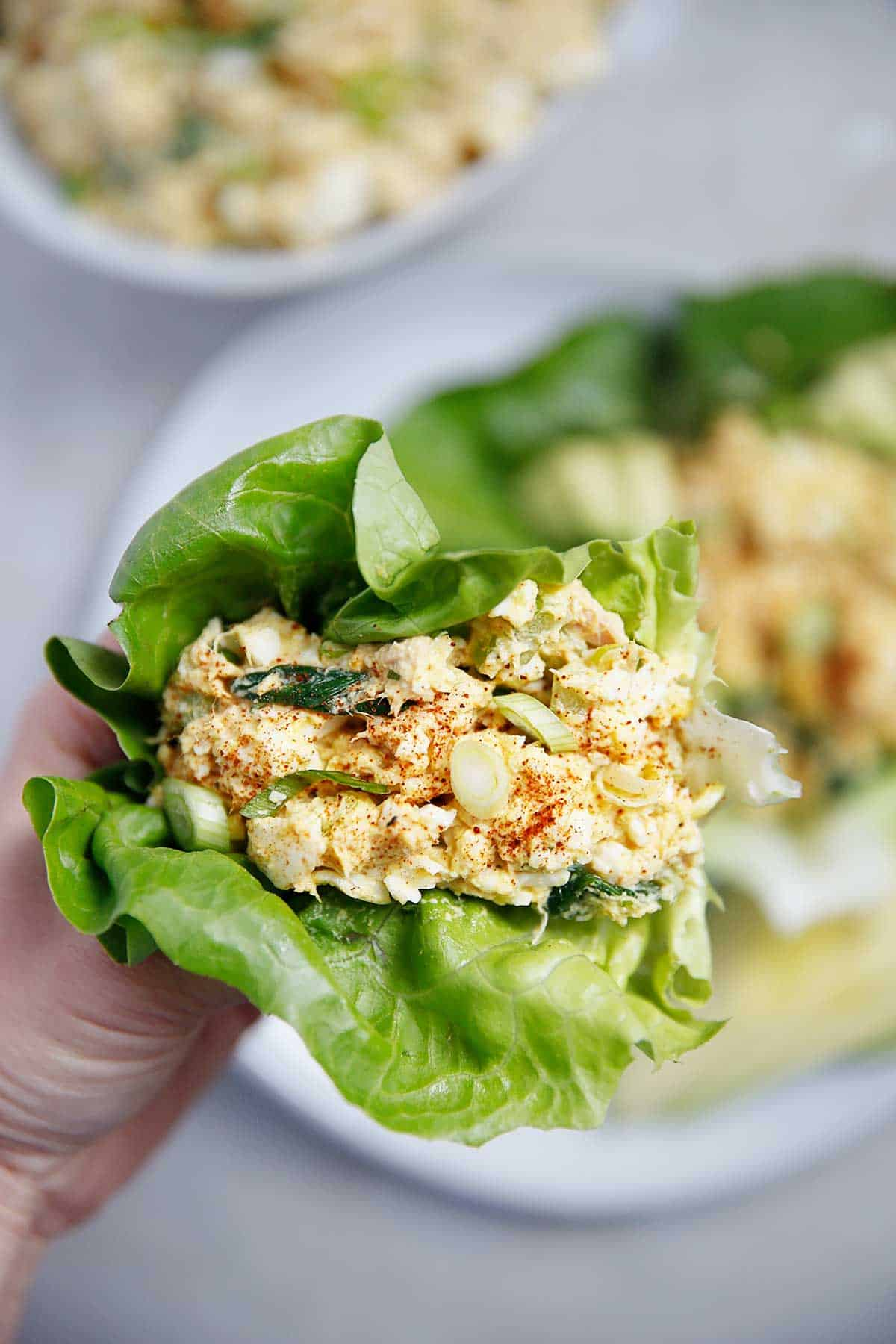 Healthy Loaded Egg Salad